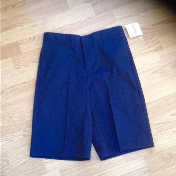 NWT Boy/'s FRENCH TOAST Navy Adjustable Waist School Uniform Shorts 5 Waist 22